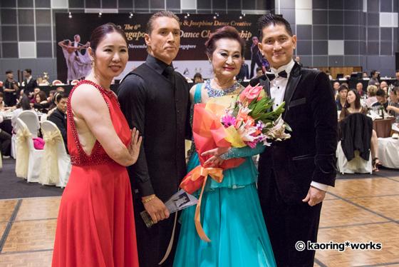 John & Josephine with Pro-Am couple Elizabeth & Andrey